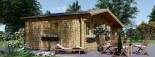 Casetta in legno CLARA con tettoia integrata (44 mm) 7x4 m 28 mq visualization 5