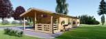 Casa in legno coibentata AVON 78 mq + 11.5 mq di porticato visualization 2