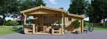 Casetta da giardino ISLA (66 mm) 18 mq + 7 mq di porticato visualization 2