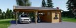 Tettoia auto in legno + ripostiglio attrezzi (44 mm) 6x7.75 m visualization 2
