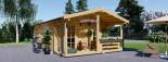 Casa in legno coibentata ARGO 35 mq + 8 mq di porticato visualization 2