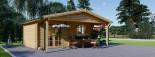 Casetta da giardino CAMILA (66 mm) 6x4 m 24 mq + 11 mq di porticato visualization 4