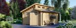 Garage in legno TWIN (44 mm) 4x6 m  visualization 1
