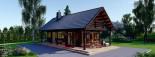 Casa in legno AURA (66 mm) 100 mq + 35 mq di porticato visualization 9