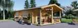 Casa in legno coibentata ARGO 35 mq + 8 mq di porticato visualization 1