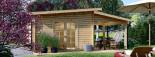 Casetta da giardino HELEN (44 mm) 24 mq + terrazza 12.5 mq visualization 6