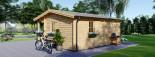 Casa in legno coibentata NANTES 24 mq + 3.45 mq di porticato visualization 6