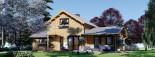 Casa in legno coibentata HOLLAND 113 mq + 13.25 di porticato visualization 3