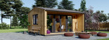 Casetta in legno TINA 4x4 m 12 mq + 3.5 mq di porticato visualization 1