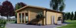 Casa in legno MARINA (44 mm) 8x6 m 48 mq visualization 6