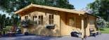 Casetta in legno CLARA con tettoia integrata (44 mm) 7x4 m 28 mq visualization 1
