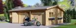 Garage in legno triplo (44 mm) 9x6 m  visualization 5