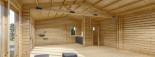 Casa in legno coibentata MARINA 8x6 m 48 mq visualization 10