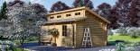 Garage in legno TWIN (44 mm) 4x6 m  visualization 3
