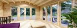 Casetta in legno da giardino MIA (44+44 mm, coibentata), 5.5x5.5 m, 30 mq visualization 8