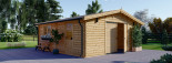 Garage in legno (44 mm) 6x6 m  visualization 2