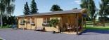 Casa in legno LINCOLN (66 mm) 60 mq + 10 mq di porticato visualization 7