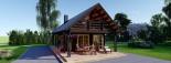 Casa in legno AURA (66 mm) 100 mq + 35 mq di porticato visualization 10