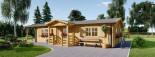 Casa in legno coibentata DONNA 63 mq + 11.5 mq di porticato visualization 2
