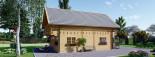 Casa in legno coibentata LANGON 95 mq con 2 balconi visualization 3