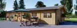 Casa in legno coibentata BRIGHTON 90 mq visualization 2