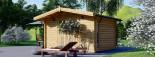 Casetta da giardino RENNES (34 mm) 4x3 m 12 mq senza pavimento visualization 5