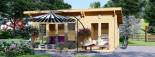 Casa in legno MAJA (66 mm) 7.5x4 m 30 mq visualization 3