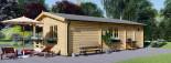 Casa in legno AMELIA (44 mm) 32 mq + 20 mq di porticato visualization 7