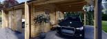 Garage in legno doppio (44 mm) 6x6 m + tettoia auto in legno 3x6 m visualization 9