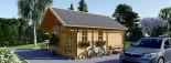 Casa in legno SCOOT (44 mm) 27 mq + 10 mq di mezzanino visualization 5