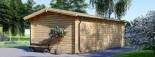 Casetta in legno LEA con tettoia integrata (44 mm) 7x4 m 28 mq visualization 5