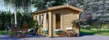 Casetta da giardino POOLHOUSE (44 mm) 4x3 m 12 mq visualization 6