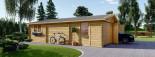 Garage in legno doppio (44 mm) 6x9 m visualization 6