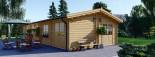 Casa in legno coibentata BRIGHTON 90 mq visualization 3