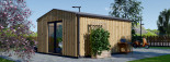 Casetta in legno TINA 5.5x5 m 22 mq + 5.5 mq di porticato visualization 4