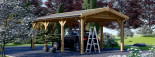 Tettoia auto in legno CLASSIC 3x6 m visualization 4