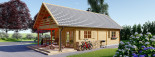 Casa in legno AURA (66 mm) 100 mq + 35 mq di porticato visualization 5