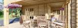Casa in legno TOULOUSE (66 mm) 100 mq + 20 mq di porticato visualization 10