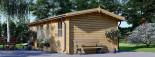 Casetta in legno LEA con tettoia integrata (44 mm) 7x4 m 28 mq visualization 4