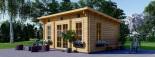 Casetta da giardino coibentata ESSEX 5x4 m 20 mq visualization 2