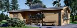 Casa in legno coibentata UZES 70 mq visualization 3