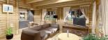 Casa in legno coibentata LINDA 78 mq + terrazza 38 mq  visualization 8