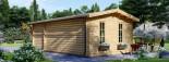 Casetta in legno LEA con tettoia integrata (44 mm) 7x4 m 28 mq visualization 6