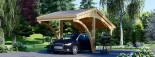 Tettoia auto in legno CORA 3x5.9 m visualization 6