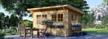 Casetta da giardino a tetto piatto LILLE (34 mm) 4x3 m 12 mq visualization 1