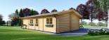 Casa in legno LINCOLN (66 mm) 60 mq + 10 mq di porticato visualization 4