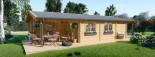 Casa in legno coibentata LINDA 78 mq + terrazza 38 mq  visualization 3