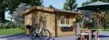 Casetta da giardino RENNES (34 mm) 4x3 m 12 mq senza pavimento visualization 3