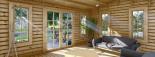 Casetta in legno LEA con tettoia integrata (44 mm) 7x4 m 28 mq visualization 8