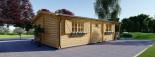 Casa in legno HYMER (66 mm) 42 mq + 10 mq di porticato visualization 5